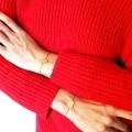 Bratara Gravata Rose Gold din Inox Rotund Traditional